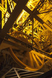 Details of the tower of Eiffel in Paris, France royalty free stock photo