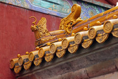 Details of Traditional Chinese roof Royalty Free Stock Photo