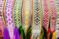 Details of a traditional Lithuanian weave Royalty Free Stock Image