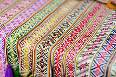 Details of a traditional Lithuanian weave Stock Image