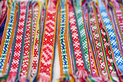 Details of a traditional Lithuanian weave Stock Images