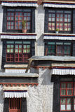 Details of the traditional Tibetan temple: The Palkhor Monastery Stock Image