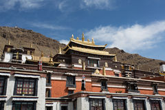 Details of the traditional Tibetan temple: The Palkhor Monastery Stock Photo