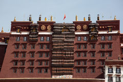 Details of the traditional Tibetan temple: The Potala Palace, in Stock Photo