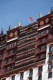 Details of the traditional Tibetan temple: The Potala Palace, in Royalty Free Stock Photos
