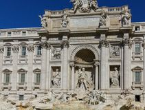Details on the Trevi Fountain Stock Photo