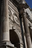 Details of the Triumphal Arch of Constantine, dedicated in AD 315 to celebrate Constantine Stock Photos