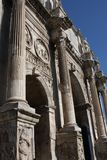 Details of the Triumphal Arch of Constantine, dedicated in AD 315 to celebrate Constantine.  Stock Photos