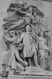 Details of Triumphal Arch de l Etoile Royalty Free Stock Photo