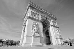Details of Triumphal Arch de l Etoile Stock Image