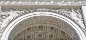 Details of Triumphal Arch de l Etoile Royalty Free Stock Photography