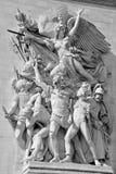 Details of Triumphal Arch de l Etoile ( Royalty Free Stock Photography