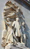 Details of Triumphal Arch de l Etoile. PARIS, FRANCE OCTOBER 17: Details of Triumphal Arch de l Etoile arc de triomphe . The monument was designed by Jean royalty free stock image