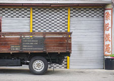 Details of the truck on street in Melaka, Malaysia Stock Images