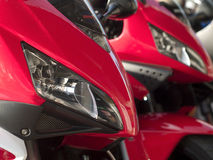 Details of two motorbikes Royalty Free Stock Photography