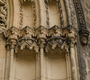 Details of tympanum of St Peter and St Paul basilica in Vysehrad. Prague Stock Photography
