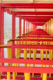 The colorful cabins of Versilia Royalty Free Stock Photography