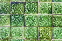 Details of typical Portuguese old ceramic wall tiles (Azulejos). Seamless pattern can be used for wallpaper, pattern fills, webpage background, surface Stock Photography