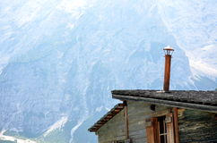 Details of typical stilt house braies Lake Royalty Free Stock Photography