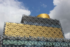Details of upper part of Library of Birmingham Royalty Free Stock Photo