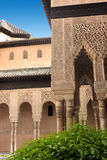 Details van Alhambra paleis in Granada, Andalusia, Royalty-vrije Stock Afbeelding