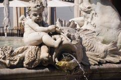 Details van artistieke fontein Stock Afbeelding