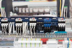 Details van automatiseringssystemen stock afbeeldingen
