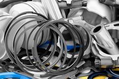 Details van automotor Stock Foto's