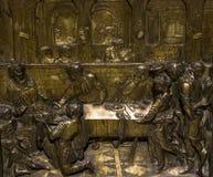Details van battistero Di San Giovanni, Siena, Italië Royalty-vrije Stock Afbeelding
