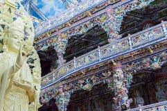 Details van beeldende kunsten bij Boeddhistische tempel Royalty-vrije Stock Afbeeldingen
