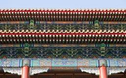 Details van Chinese Architectuur Stock Afbeeldingen