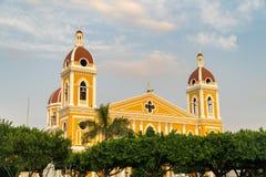 Details van de beroemde Kathedraal in Granada, Nicaragua stock foto's