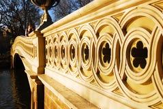 Details van de Boogbrug in New York & x27; s Central Park stock afbeelding