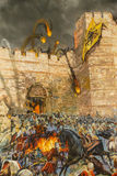 Details van de definitieve aanval van Constantinopel stock afbeelding