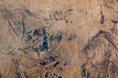 Details van de donkere textuur van de zandsteen Stock Foto
