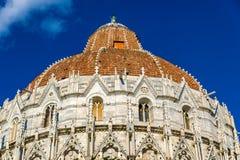 Details van de Doopkapel van Pisa van St John Stock Afbeeldingen