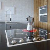 Details van de Houten Keukenkast van Luury Stock Fotografie