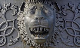 Details van de Koning Cannon van Tsaarpushka in Moskou het Kremlin royalty-vrije stock afbeelding