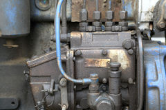 Details van dieselmotor Royalty-vrije Stock Fotografie