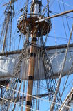 Details van een historisch zeilschip Stock Afbeelding