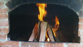 Details van een houten brand stock footage