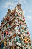 Details van een Indische tempel in Singapore stock fotografie