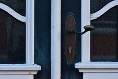 Details van een oude frontdoor royalty-vrije stock afbeeldingen