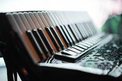 Details van een oude harmonika stock fotografie