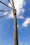 Details van een oude varende boot Stock Fotografie