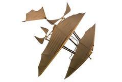Details van een uitstekende het vliegen machine miniatuurreplica stock afbeeldingen