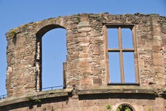 Details van geruïneerd kasteel Stock Afbeeldingen
