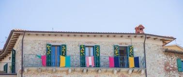Details van het dorp van Castiglione del Lago Stock Afbeelding