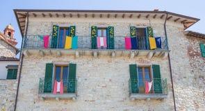 Details van het dorp van Castiglione del Lago Stock Foto