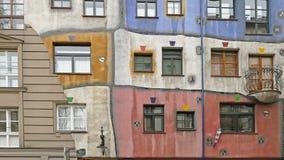 Details van het Hundertwasser-Huis in Wenen, Oostenrijk Royalty-vrije Stock Afbeelding